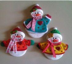 Salt Dough Ornaments, Types Of Craft, All Things Christmas, Diy Gifts, Snowman, Christmas Ornaments, Christmas Ideas, Felt, Toys