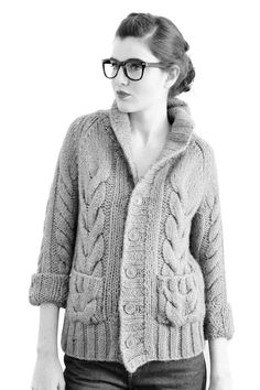 Lovely and Simple | cable knit cardi