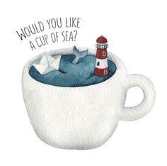 Просмотреть иллюстрацию Cup of sea из сообщества русскоязычных художников автора Мария Алексеева в стилях: Живопись, нарисованная техниками: Акварель.