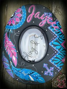 Find me on FB for hand painted leather, bronc nosebands, belts, witherstraps, headstalls, hats, caps and more..