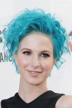 Paramore Hayley Williams 2014 Blue Hair Hayley-williams-hair-blue-