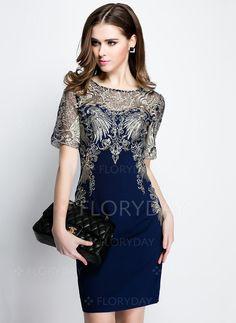 Dresses - $78.28 - Cotton Polyester Short Sleeve Above Knee Vintage Dresses (1955096528)