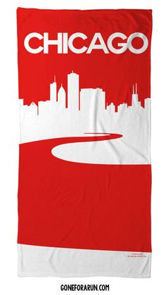 A great looking towel for the beach, pool or around the house. goneforarun.com