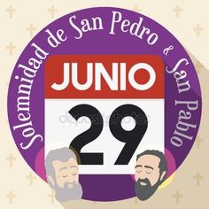 Button with Calendar for Solemnity of Saints Paul and Peter, Vector Illustration St Peter And Paul, Saints, Calendar, Buttons, Stock Photos, Illustration, Fiestas, Illustrations, Life Planner