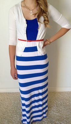 Set Sail Summer Maxi --- stripes!