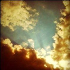 The sky on a drive...