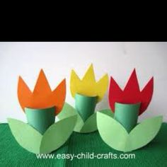 Tulips- easy kid's craft-- mother day? or maybe just spring