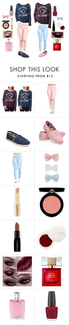 """Partners In Crime @lexiephilippone❣"" by akr13 ❤ liked on Polyvore featuring TOMS, Decree, Napoleon Perdis, Armani Beauty, Smashbox, lilah b., Kate Spade, Lancôme and OPI"