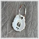 Antler Keychain w/ engraved deer track