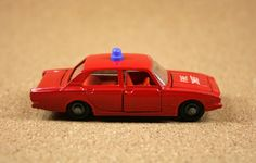 """Lone Star Road-Master """"Impy"""" Super Cars Ford Corsair Fire Chief Car - 1960s Vintage Diecast Cars"""