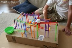 Engineering Project for Kids: Build a Straw Roller Coaster