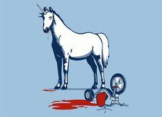 """Unicorns Eat Children"" - Threadless.com"