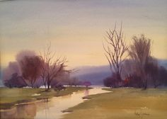 Spring Mist, 2013, Watercolor by Betsy Jacaruso