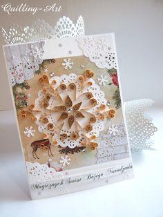 kartka świąteczna quilling