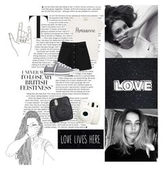 """""""Yin. Yang."""" by wild-child921 ❤ liked on Polyvore featuring Maison Kitsuné, Fuji, Monki, Converse, Sillygirl, angelisbaeoutfits and 1onewinnerinangelscontest"""