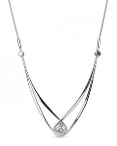 Gemstone Swing by Ed Levin - 0.80ctw Round Brilliant Moissanite Solitaire Necklace with Chain, 925 Sterling Silver - ed levin jewelry - collections - shop