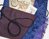 Luscious Purse Purple Brown Blue Fringe Handbag Boho Hippie Turtle Brooch