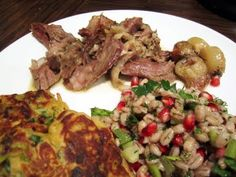 You wanna impress her.. God, just try this... it was so divine... braised Shoulder of Lamb with Barley and Pomegranate Salad!!!