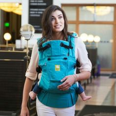 f6284aab66b Lillebaby Complete Embossed Teal Baby Carrier - Timeless and sophisticated
