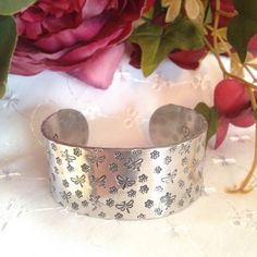 The Secret submissive cuff bracelet flowers by EternallyBoundStore