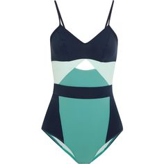 Flagpole Joellen cutout color-block swimsuit (1.175 BRL) ❤ liked on Polyvore featuring swimwear, one-piece swimsuits, bathing suit, swimsuit, cut-out swimsuits, slimming swimsuits, chlorine resistant swimsuits, cut-out one piece swimsuits and turquoise swimsuit