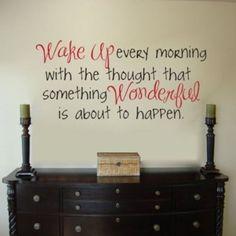 Wake up to wonderful!