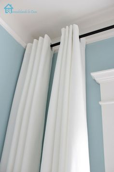 Curtains Pulled to One Side | ... the curtains i bought two sets of ikea merete curtains $ 24 99 pair