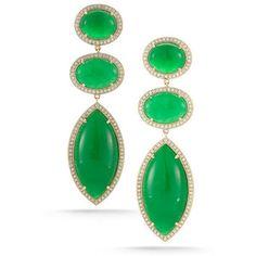 One of a Kind Green Jade Earrings | Dana Rebecca Designs