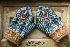 ruralgirl:  (via Norwegian wedding mittens by bluegarter.org | to knit)