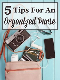If you're tired of lugging around an extremely heavy purse, and having to dig and dig to find what you need, use these 5 simple tips for an organized purse to get it all back under control. #ad