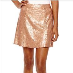 Sequin skater skirt. Pretty bronze color. Skirts Mini