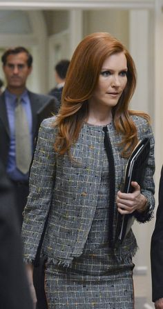 """""""Paul Smith Black Label"""" dress and jacket - worn by Darby Stanchfield (Abby) on Scandal, season 4."""