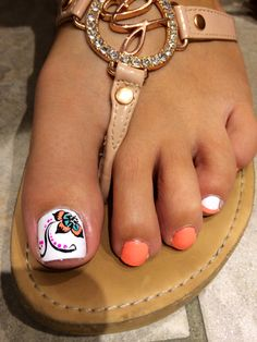 Flip Flop Fantasy by China Glaze with a paisley design