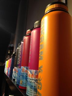 Namaka flasks! Stay hydrated throughout class and all day long! 40oz of water, keeps hot hot and cold cold. Stainless steel & lifetime warranty. Not to mention the awesome colours available!