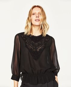 EMBROIDERED BLOUSE-NEW IN-WOMAN | ZARA United States