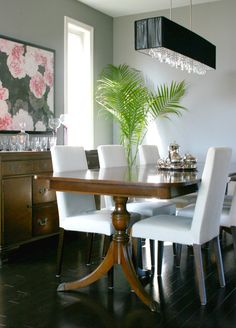 Thrifted Thursday with Julie of Elliven Studio.   Antique dining table.  www.loveonsunday.com