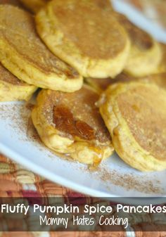 Fluffy Pumpkin Pancakes {Gluten Free Optional}..... Just tried these tonight they were a HIT!!!  What, you don't do breakfast for dinner? We do!!!