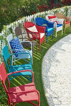 Stock Up On Colorful Stackable Outdoor Seating From Pier 1