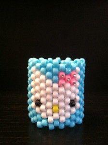 Hello Kitty kandi cuff