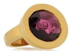 Aurora Lopez Mejia. 18K Yellow Gold Hand carved Tourmaline Gold Ring