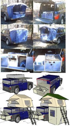 vw dodge ford connect minivan camper van eco camper routan caravan toyota honda kia fiatTrailers camper toyhauler popup custom work and play