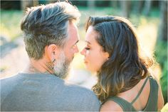 Natural light engagement photographer Asheville NC | Catherine Ann Photography | Kodak Portra 400
