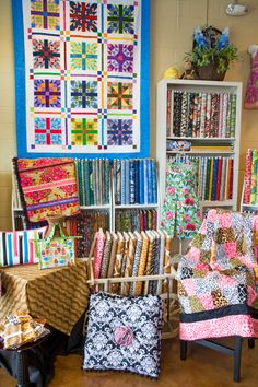 The diverse selection of fabrics at Honey Bee Quilt Shop in Austin reflects that city's celebration of the eclectic.