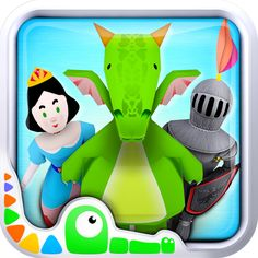Piece together a land of fairy tales!Featuring three games on a magical map, the app encourages children to use their imagination by interacting with fairy tale-themed characters and shapes. The intuitive design allows kids to navigate the map of a magical kingdom and:•discover dragons, prince