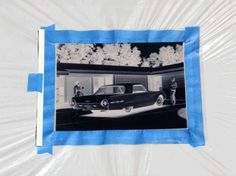 from How About Orange: tutorial on using Inkodye to make sunprints on fabric using photographs turned into negatives