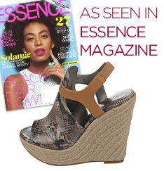 The #CarlosSantana BAMBI #espadrille #wedges, #AsSeenIn @Essence Magazine!