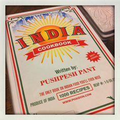 India cookbook. Sieht aus wie geradewegs aus den 60er Jahren entsprungen. Beste Rezepte!