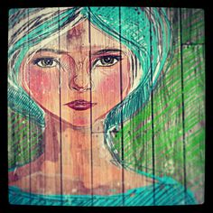 Roses are red, sundays are blue. #Doodle #Brushes #instadrawing #Blue #girl