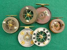 Collecting antique and vintage fishing tackle rod reel lure gaff flybox flies Gone Fishing, Fishing Tackle, Bamboo Fly Rod, Vintage Fishing Lures, Fly Reels, Rod And Reel, Old Antiques, Carving, Bugs