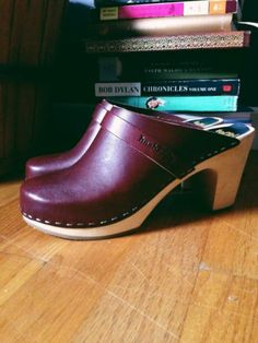 Swedish Hasbeens Slip in Clog (Bordeaux, Size 39 or US 9, New In Box!) $120...originally $220!